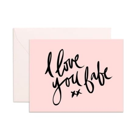 I Love You Babe xx - gift card