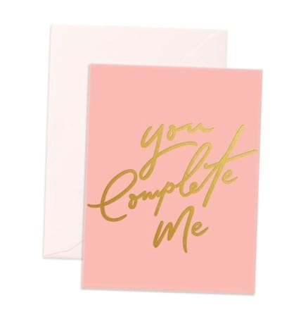 You Complete Me gift card